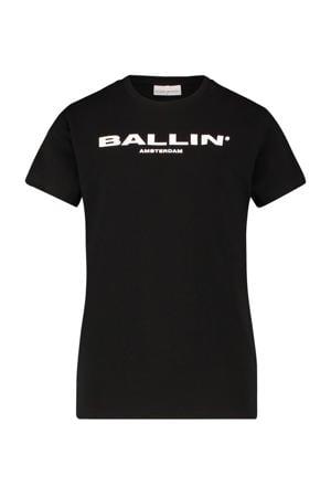 T-shirt met tekst zwart/wit