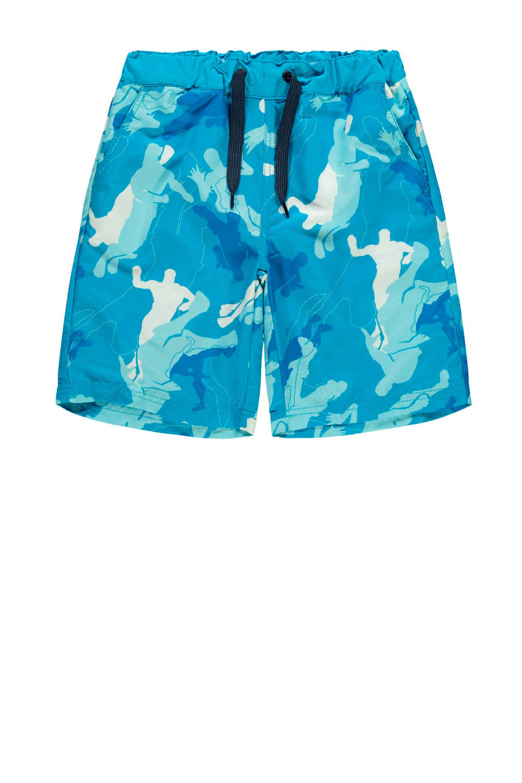 NAME IT KIDS zwemshort Mateo blauw, Blauw