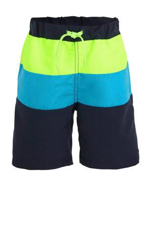 zwemshort Zaxx neon groen/blauw