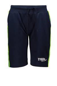 TYGO & vito regular fit sweatshort donkerblauw/geel/wit, Donkerblauw/geel/wit