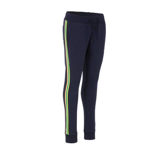 TYGO & vito regular fit broek donkerblauw/geel