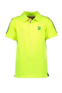 TYGO & vito polo met contrastbies en borduursels geel/groen, Geel/groen