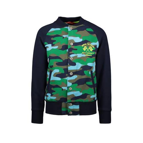 TYGO & vito vest met camouflageprint donkerbla