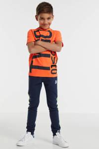 TYGO & vito T-shirt met tekst oranje/donkerblauw, Oranje/donkerblauw