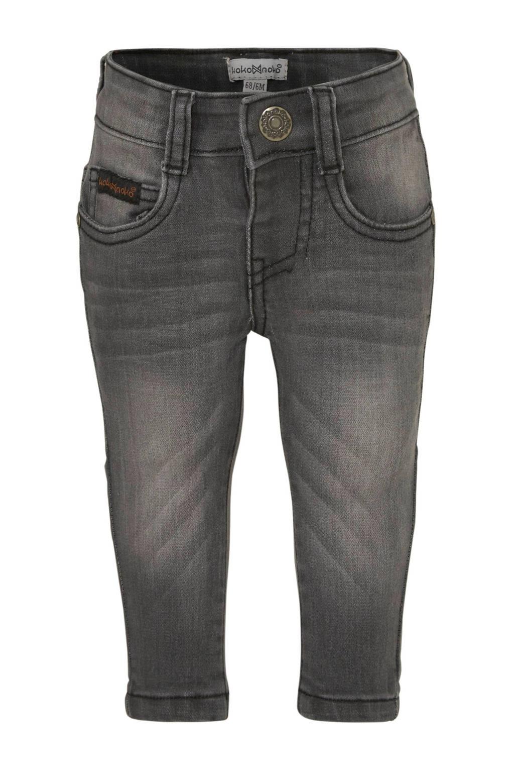 Koko Noko super skinny jeans antraciet stonewashed, Antraciet stonewashed