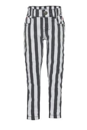 gestreepte skinny jeans wit/zwart