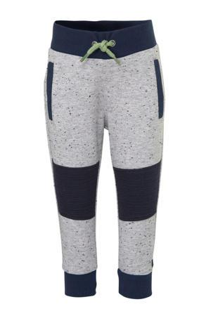 broek met textuur grijs melange/donkerblauw/groen