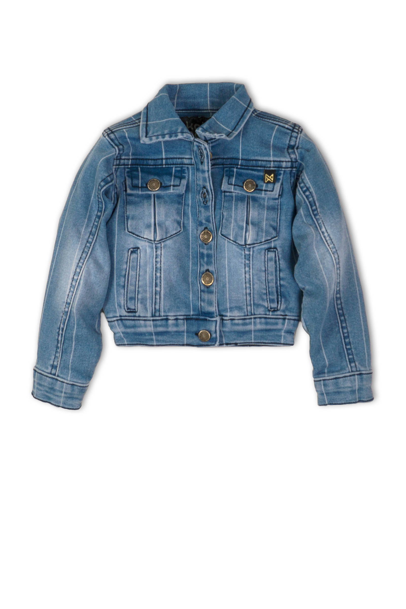 gestreepte spijkerjas dark denimlight denim