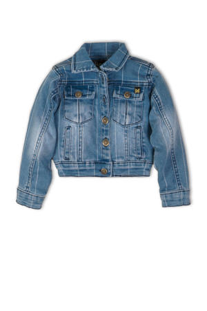 gestreepte spijkerjas dark denim/light denim