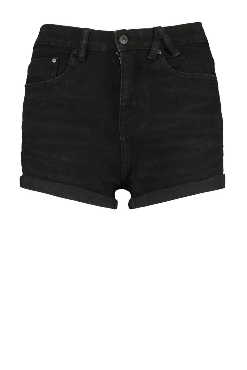 America Today high waist jeans short zwart, Zwart