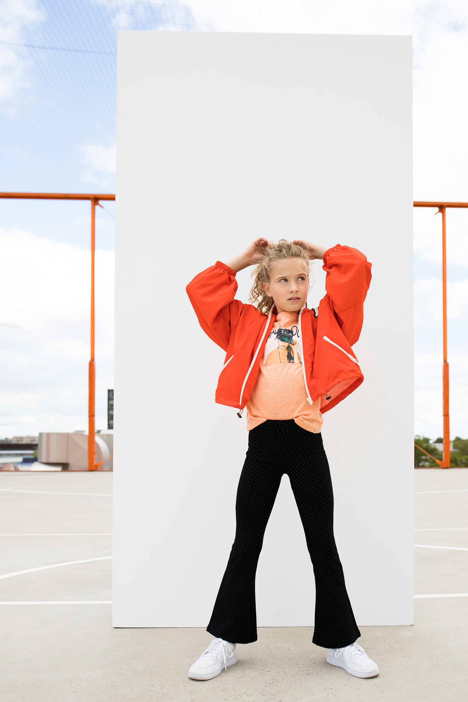 Street called Madison zomerjas Jack met tekst en mesh oranje
