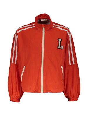 zomerjas Jack met tekst en mesh oranje