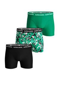 Björn Borg boxershort (set van 3), Groen/zwart