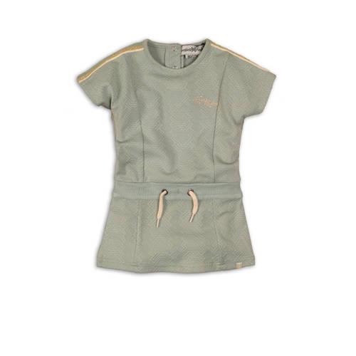 Koko Noko jersey jurk met contrastbies en glitters