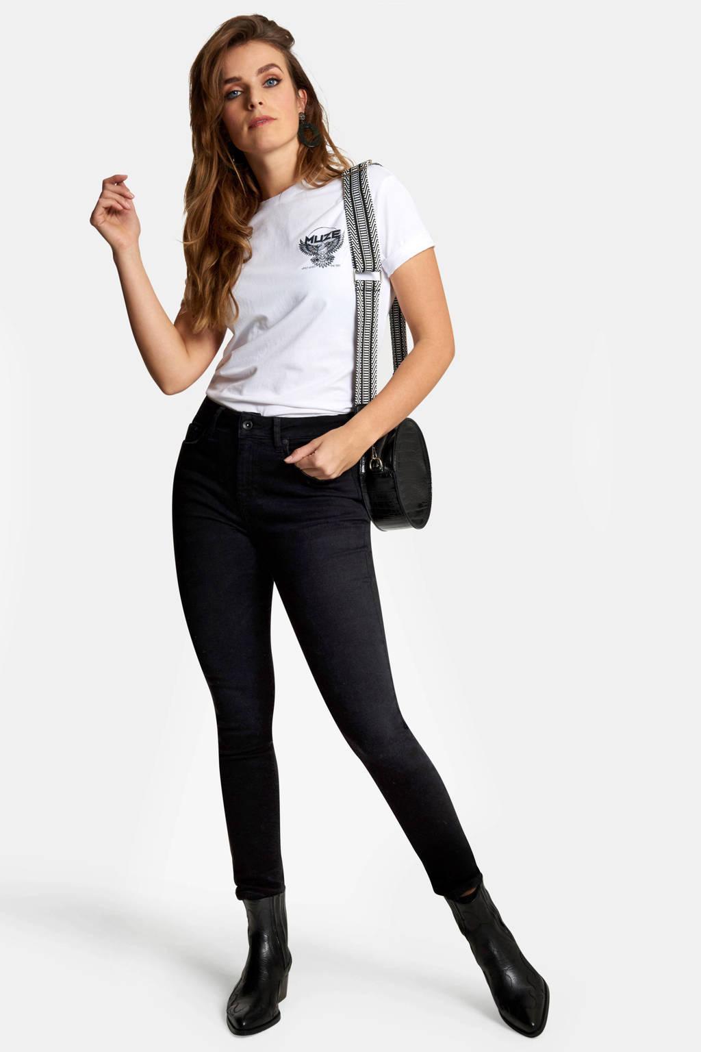 Eksept by Shoeby cropped skinny jeans zwart, Zwart