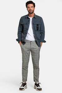 Refill by Shoeby geruite slim fit pantalon Fedde zwart/wit, Zwart/wit