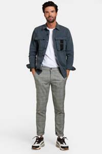 Refill by Shoeby geruite slim fit pantalon zwart/wit, Zwart/wit