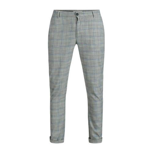 Refill by Shoeby geruite slim fit pantalon zwart/w