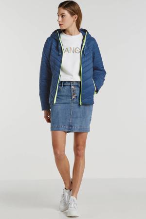 gewatteerde jas Lt Weight Jkt blauw/groen
