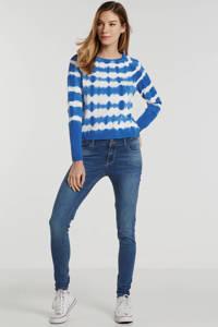edc Women tie-dye trui pattern effect blauw/wit, Blauw/wit