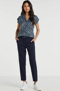 "ESPRIT Women Collection slim fit pantalon Newport 28"" donkerblauw, Donkerblauw"