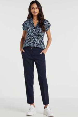 "slim fit pantalon Newport 28"" donkerblauw"