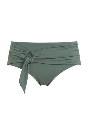 bikinibroekje met strikdetail olijfgroen