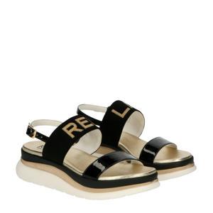 Artwood  plateau sandalen goud/zwart