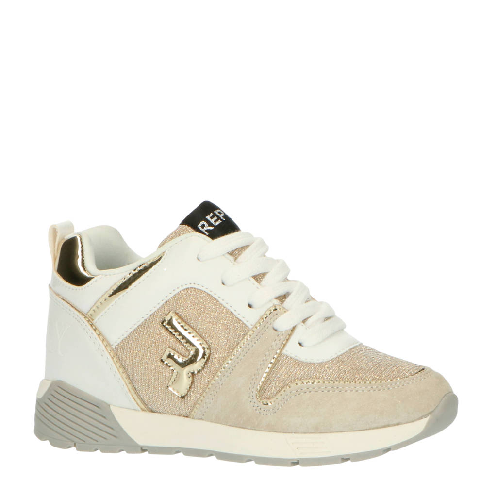 REPLAY Ottawa  sneakers goud/wit, Wit/goud