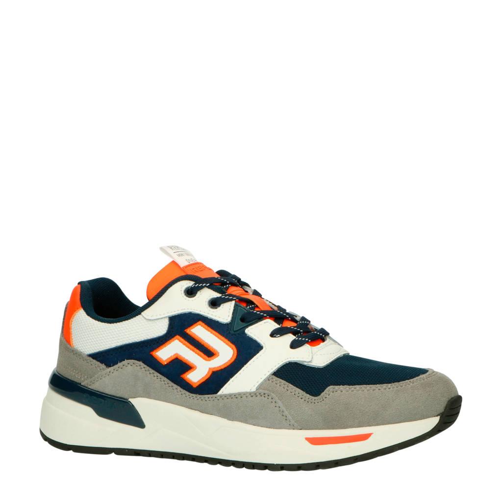 REPLAY Kentfields  suède sneakers blauw/grijs, Blauw/multi