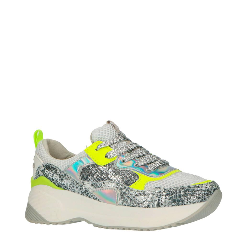 REPLAY Eindhoven  chunky sneakers zilver/neon geel, Zilver/Neon geel