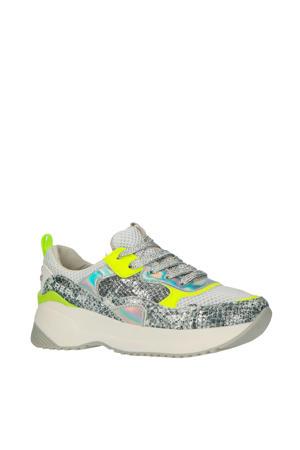 Eindhoven  chunky sneakers zilver/neon geel