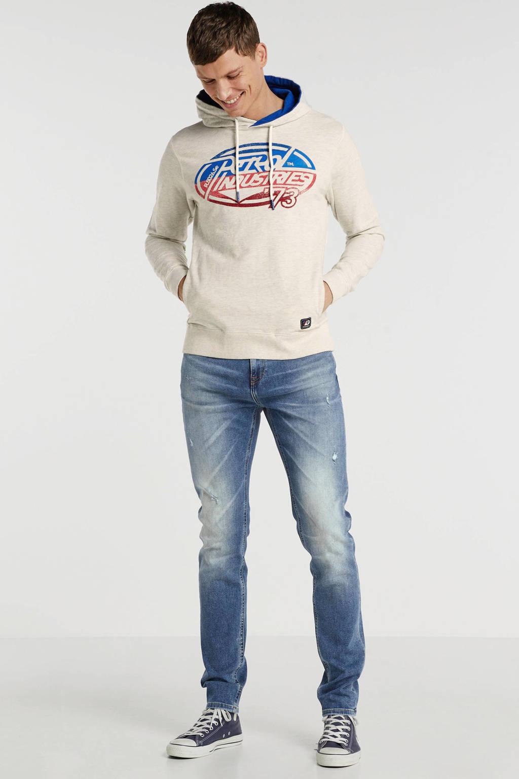 Petrol Industries hoodie met printopdruk ecru, Ecru