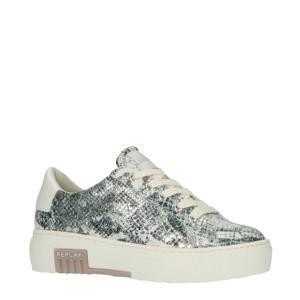 Cordova  plateau sneakers slangenprint/zilver