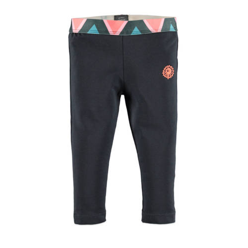 Babyface regular fit legging antraciet/roze/blauw