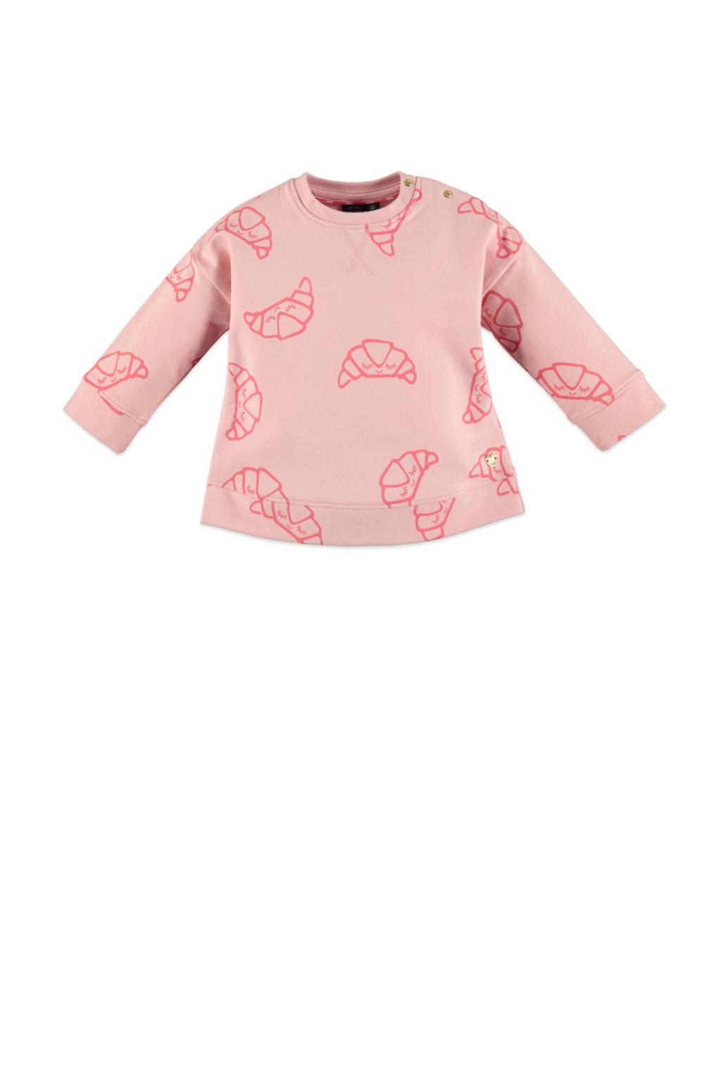 Babyface sweater met all over print lichtroze/roze, Lichtroze/roze