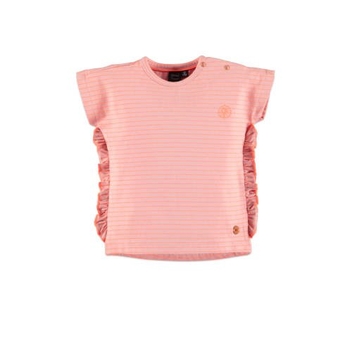 Babyface gestreept regular fit T-shirt roze