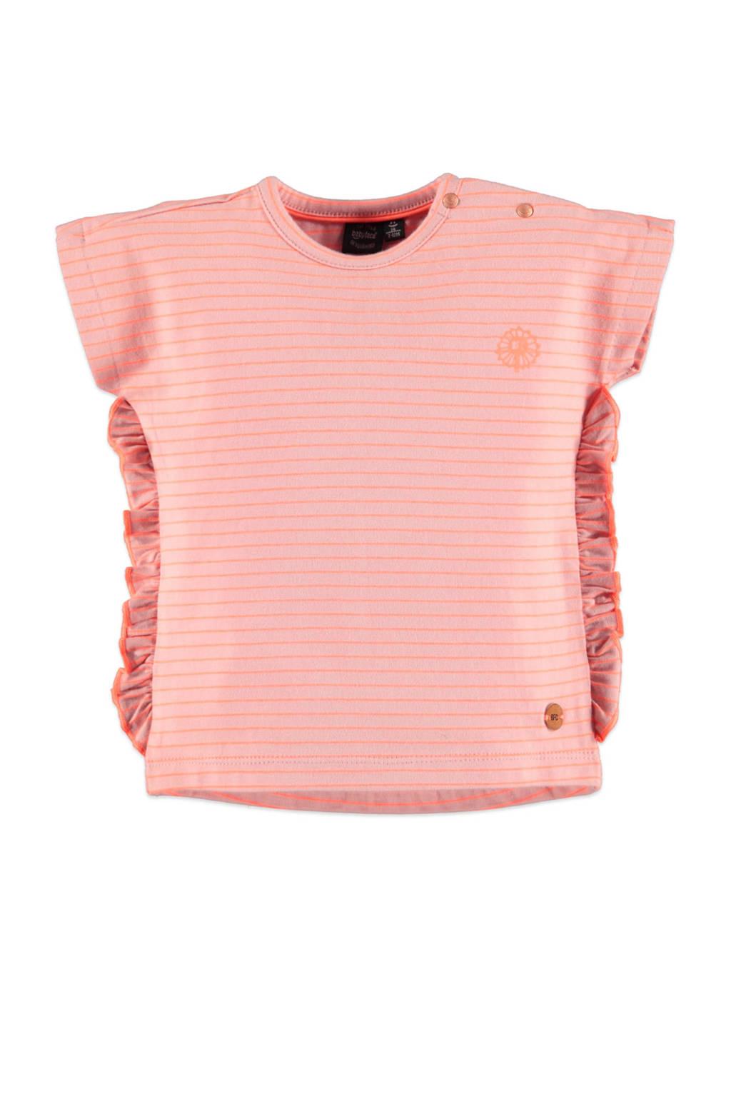 Babyface gestreept regular fit T-shirt roze, Roze