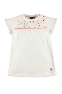 Babyface regular fit T-shirt met printopdruk en borduursels ecru, Ecru