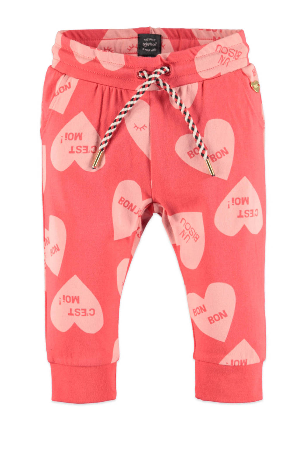 Babyface regular fit broek met all over print roze/lichtroze, Roze/lichtroze