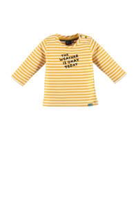 Babyface baby longsleeve met tekst maisgeel/wit, Maisgeel/wit