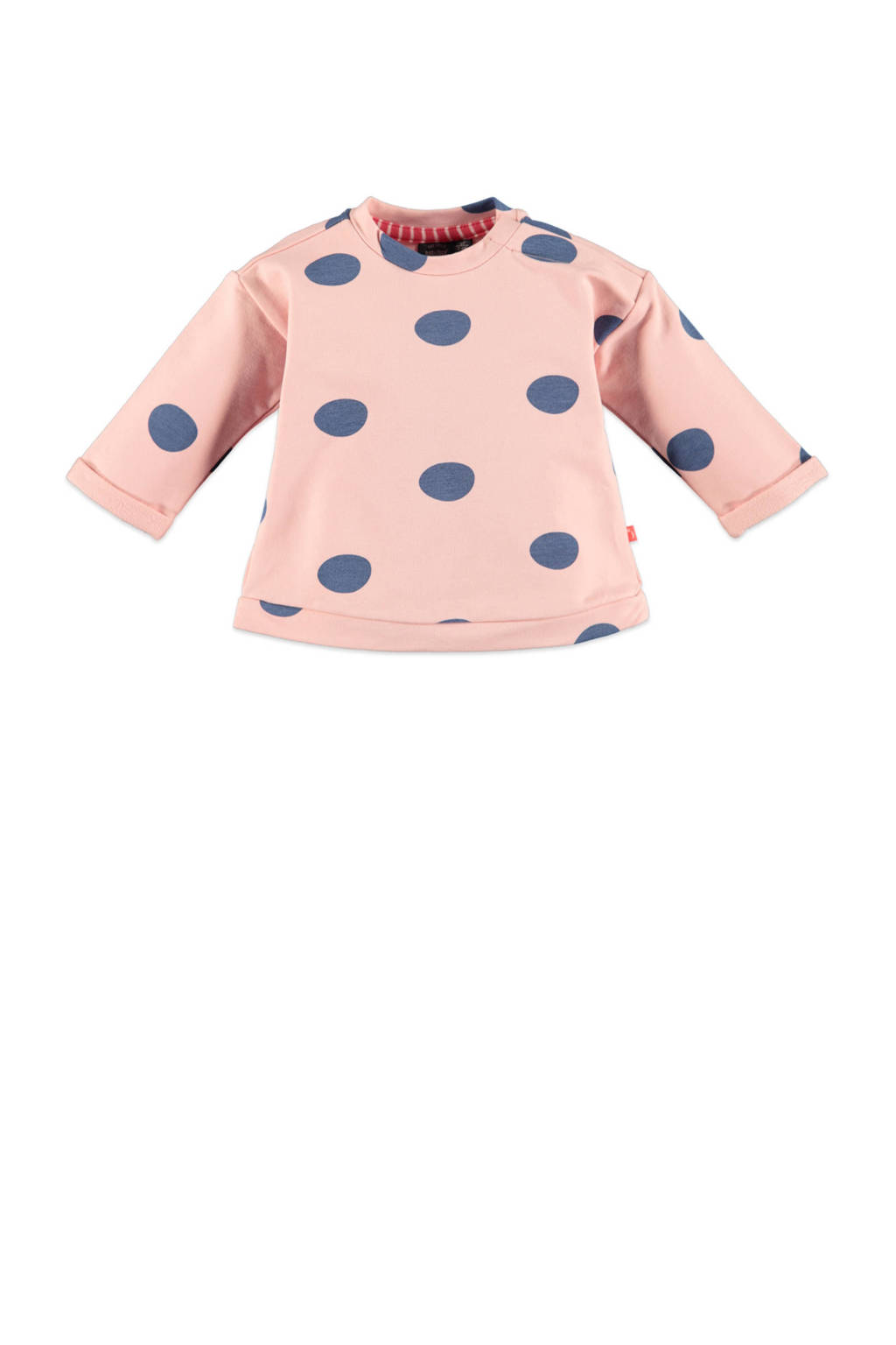 Babyface sweater met stippen lichtroze/blauw, Lichtroze/blauw