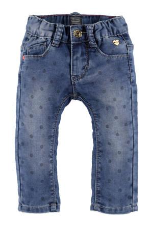 regular fit jeans met stippen stonewashed