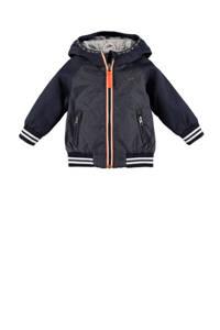 Babyface zomerjas donkerblauw/antraciet/oranje, Donkerblauw/antraciet/oranje