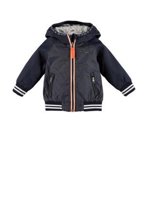 zomerjas donkerblauw/antraciet/oranje