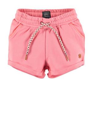 high waist regular fit sweatshort roze