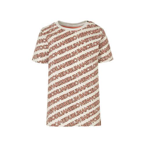 Babyface regular fit T-shirt met all over print ec