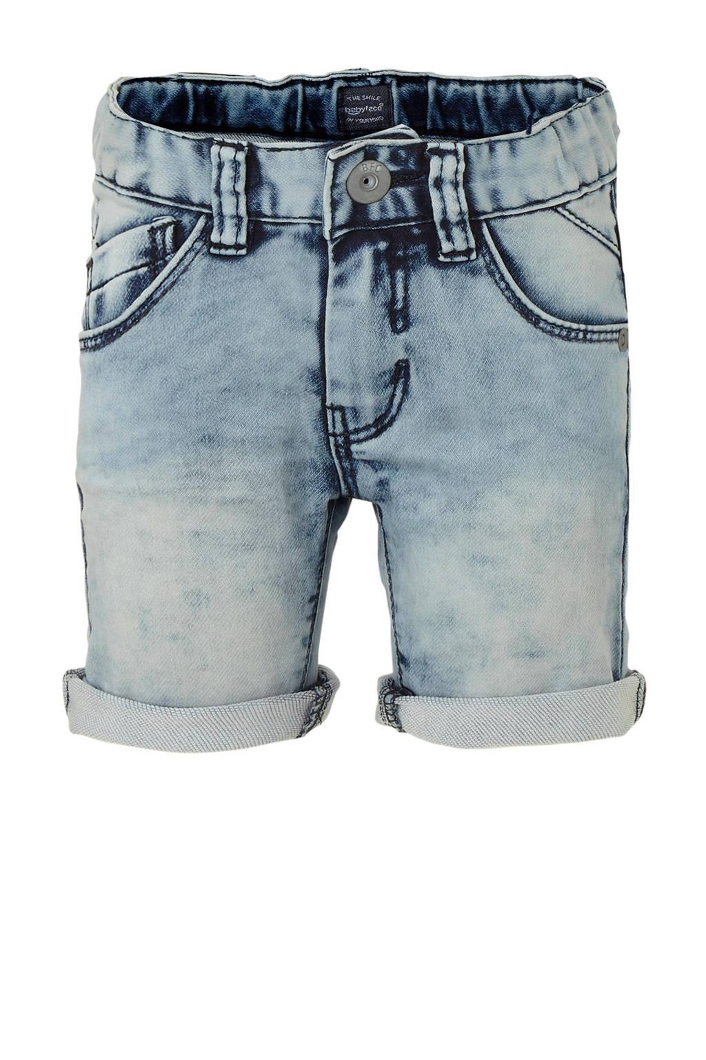Babyface regular fit jeans bermuda light denim, Light denim
