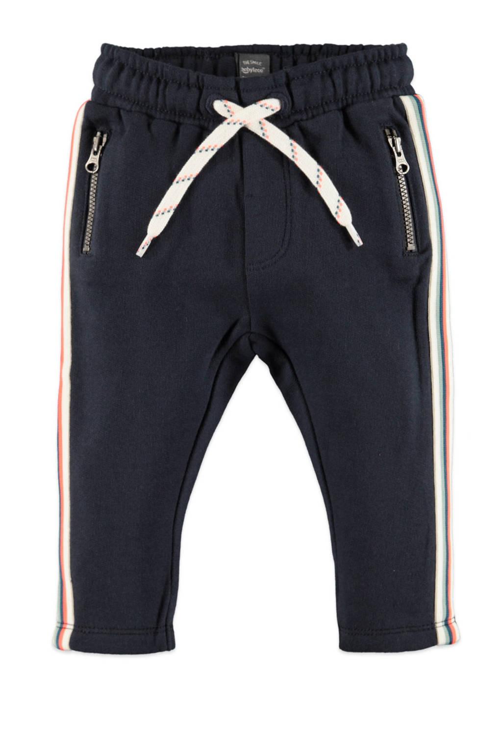 Babyface fleece regular fit broek donkerblauw/wit/groen, Donkerblauw/wit/groen