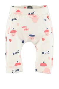 Babyface regular fit broek met all over print off white/roze, Off white/roze